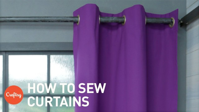 Curtain Sewing Patterns How To Sew Curtains Easy Grommet Style With Free Pattern