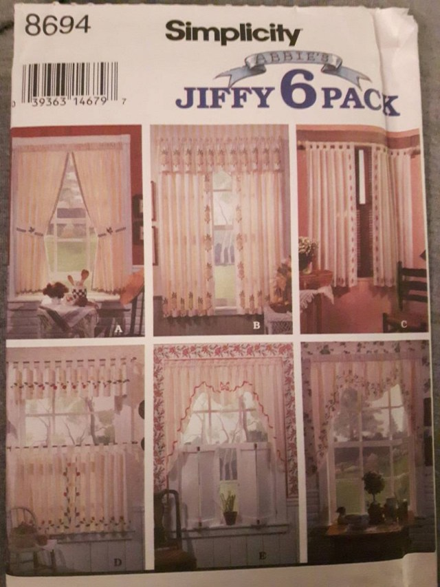 Curtain Sewing Patterns Simplicity 8694 Stenciled Curtains Sewing Pattern Etsy