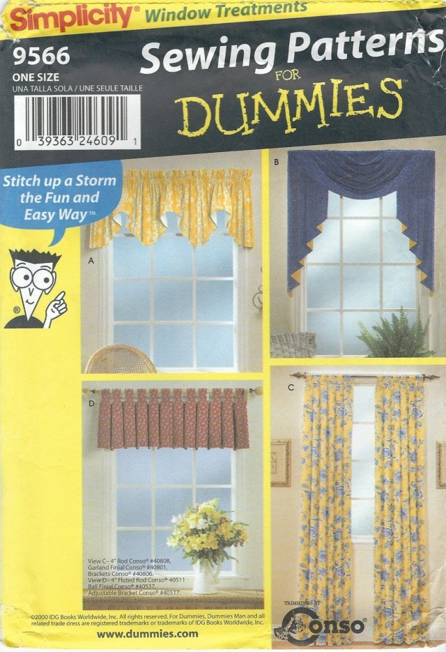 Curtain Sewing Patterns Simplicity Sewing Pattern 9566 Valances Panels Curtains Window