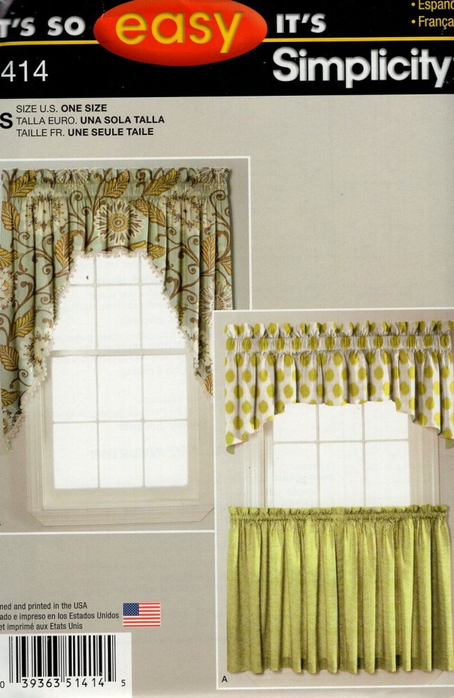 Curtain Sewing Patterns Simplicity Window Treatments Sewing Pattern 1414 Free Us Ship