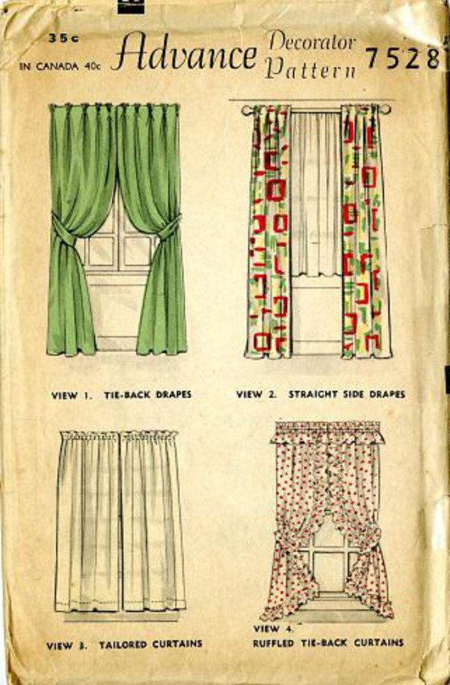 Curtain Sewing Patterns Vintage Pattern Warehouse Vintage Sewing Patterns Vintage Fashion