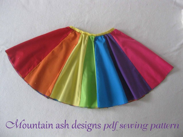 Dance Skirt Sewing Pattern Rainbow Skirt Pattern Pdf Sewing Pattern Poodle Character Etsy