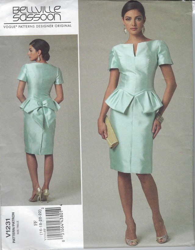 Designer Sewing Patterns Bellville Sassoon Pattern Vogue Formal Dress Oop Vogue Pattern