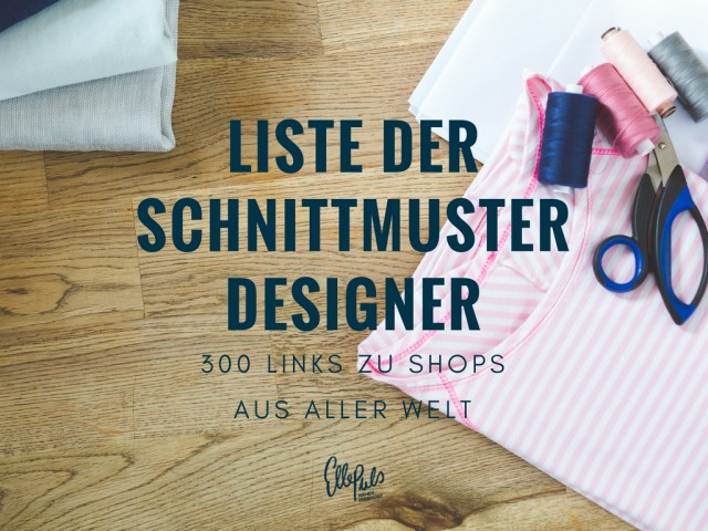 Designer Sewing Patterns Die Lange Liste Der Schnittmuster Designer List Of Sewing Pattern