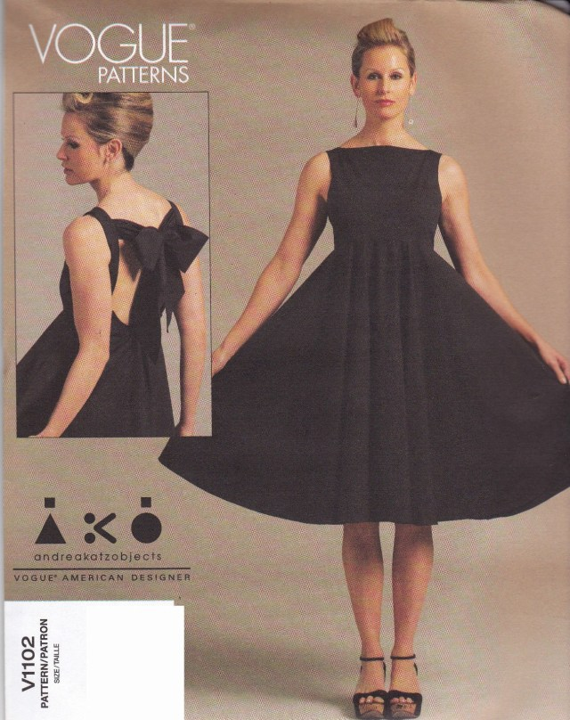 Designer Sewing Patterns Vogue American Designer Sewing Pattern Dress From Uk V1102