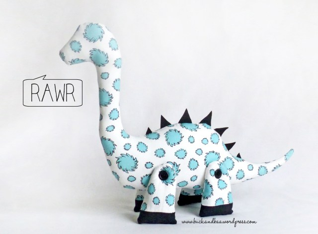 Dinosaur Sewing Pattern Dale The Diplodocus The Sewing Pattern Rawr Buckandbaa