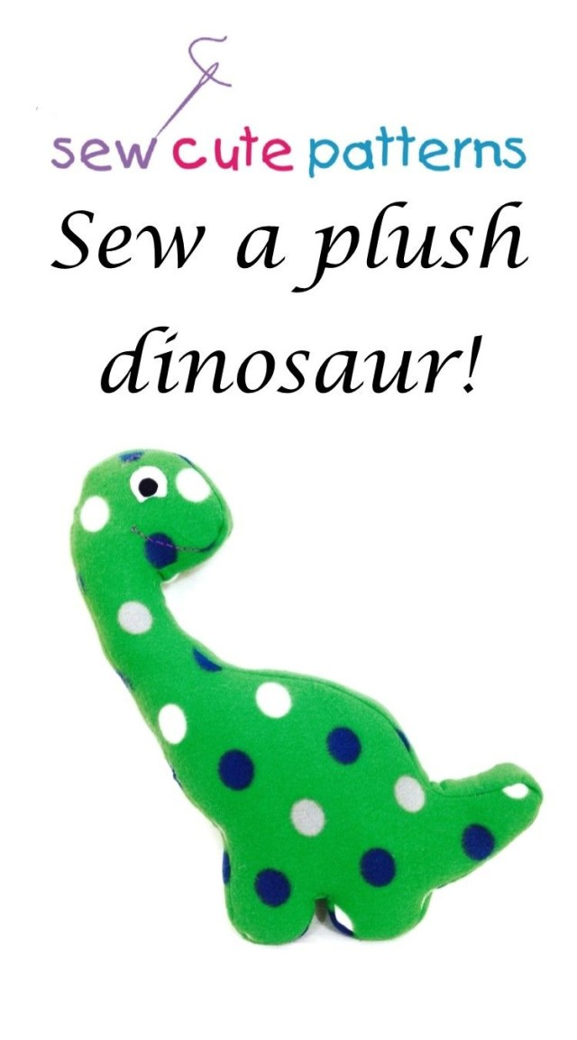Dinosaur Sewing Pattern Dinosaur Pattern Will Show You How To Make An Adorable Plush Pet
