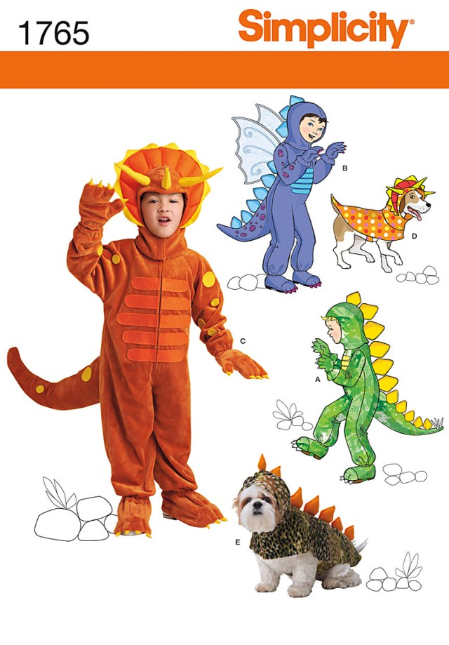 Dinosaur Sewing Pattern Simplicity Childrens Dog Sewing Pattern 1765 Dinosaur Dragon