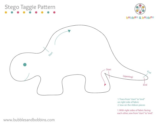 Dinosaur Sewing Pattern Tutorial How To Make A Dinosaur Stegosaurus Taggie Doll
