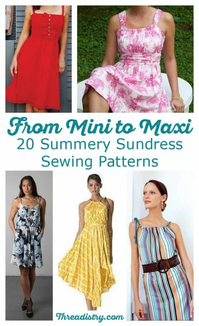 Dress Sewing Patterns 20 Summery Sundress Sewing Patterns