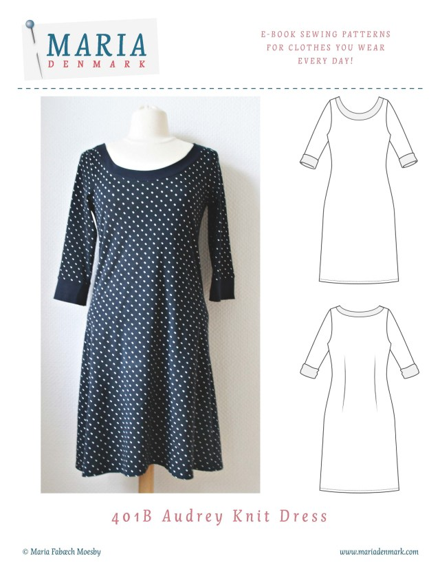 Dress Sewing Patterns 401 Audrey Knit Dress Mariadenmark Sewing