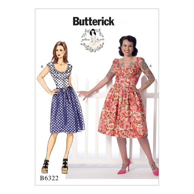 Dress Sewing Patterns Butterick Misses Ruched Corset Style Dress Sewing Pattern 373062