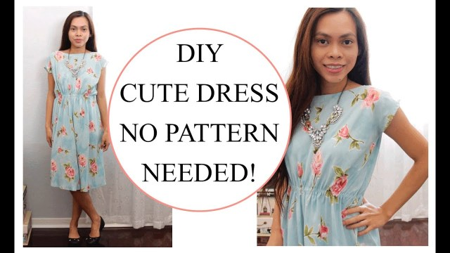 Dress Sewing Patterns How To Sew Dress Without Pattern Sewing Project For Beginners Youtube