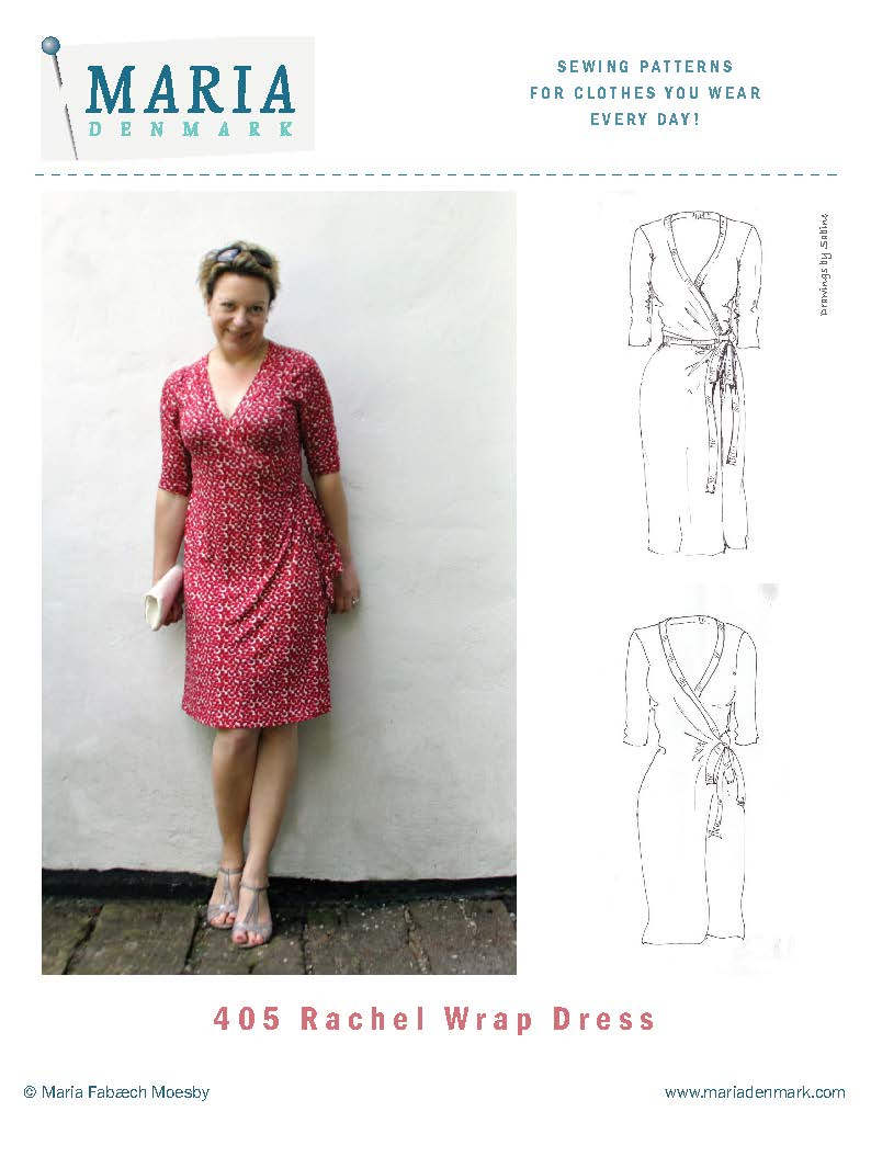 Dress Sewing Patterns Mariadenmark 405 Rachel Wrap Dress Sewing Pattern