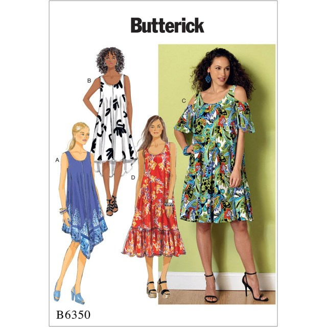 Dress Sewing Patterns Misses Sleeveless And Cold Shoulder Dresses Butterick Sewing Pattern