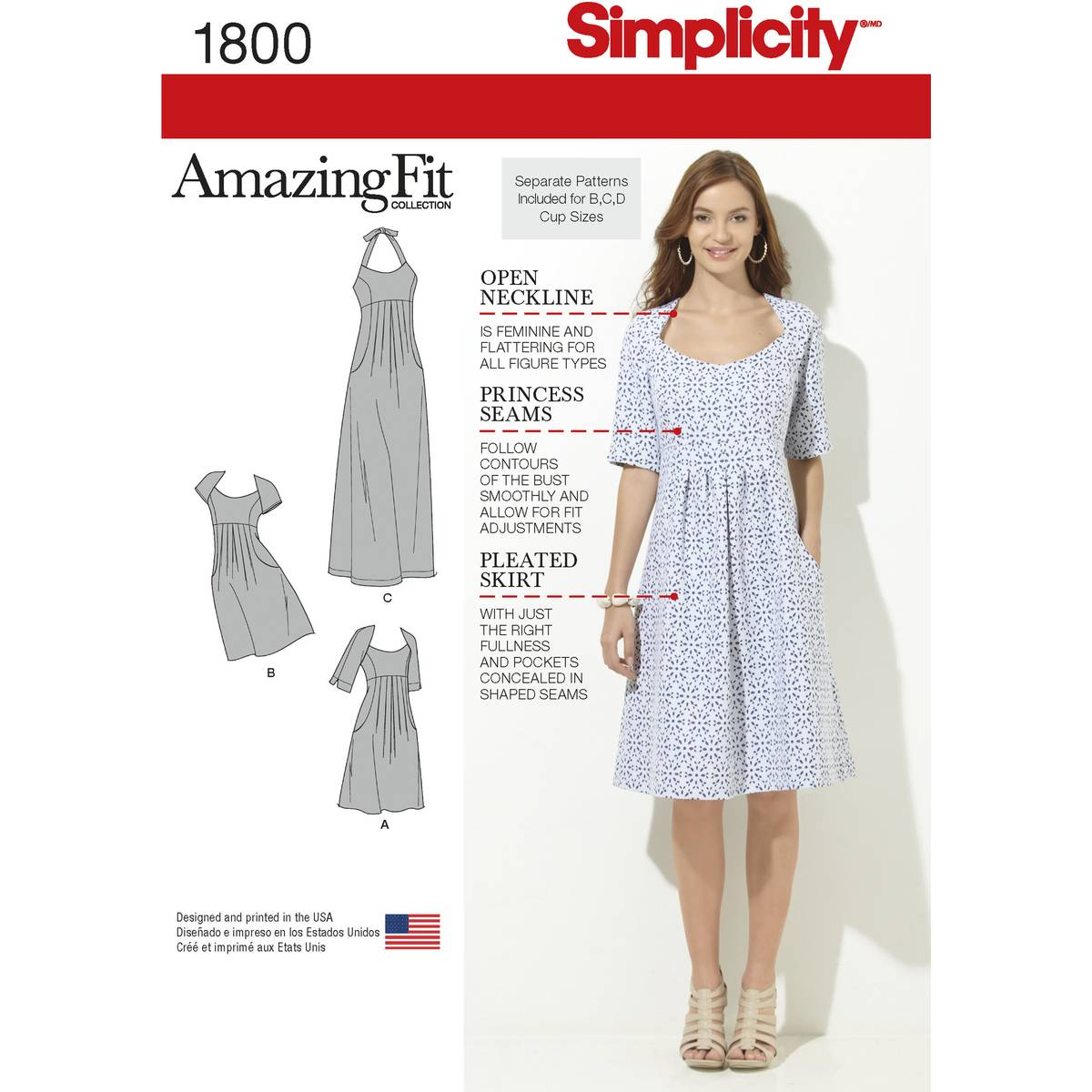 Dress Sewing Patterns Simplicity Womens Fit Dress Sewing Pattern 1800 Hobcraft