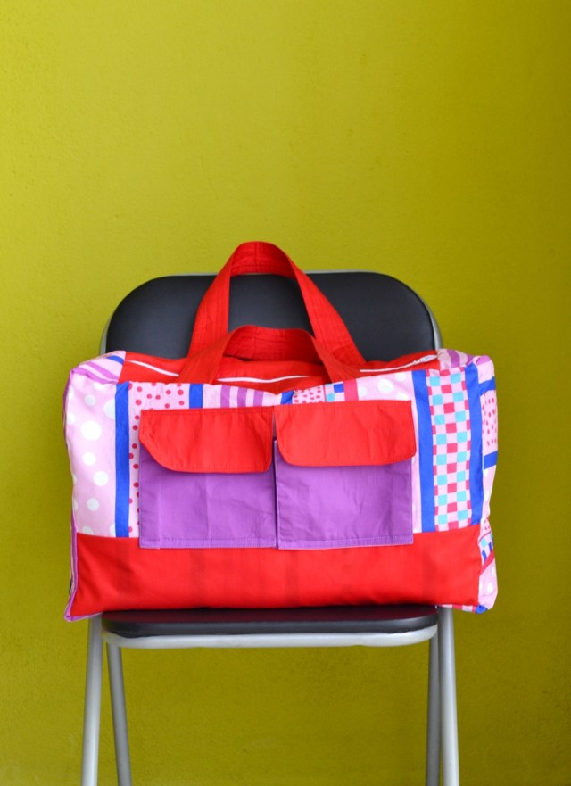 Duffle Bag Sewing Pattern Duffle Bag Free Sewing Pattern From Pillow Cover