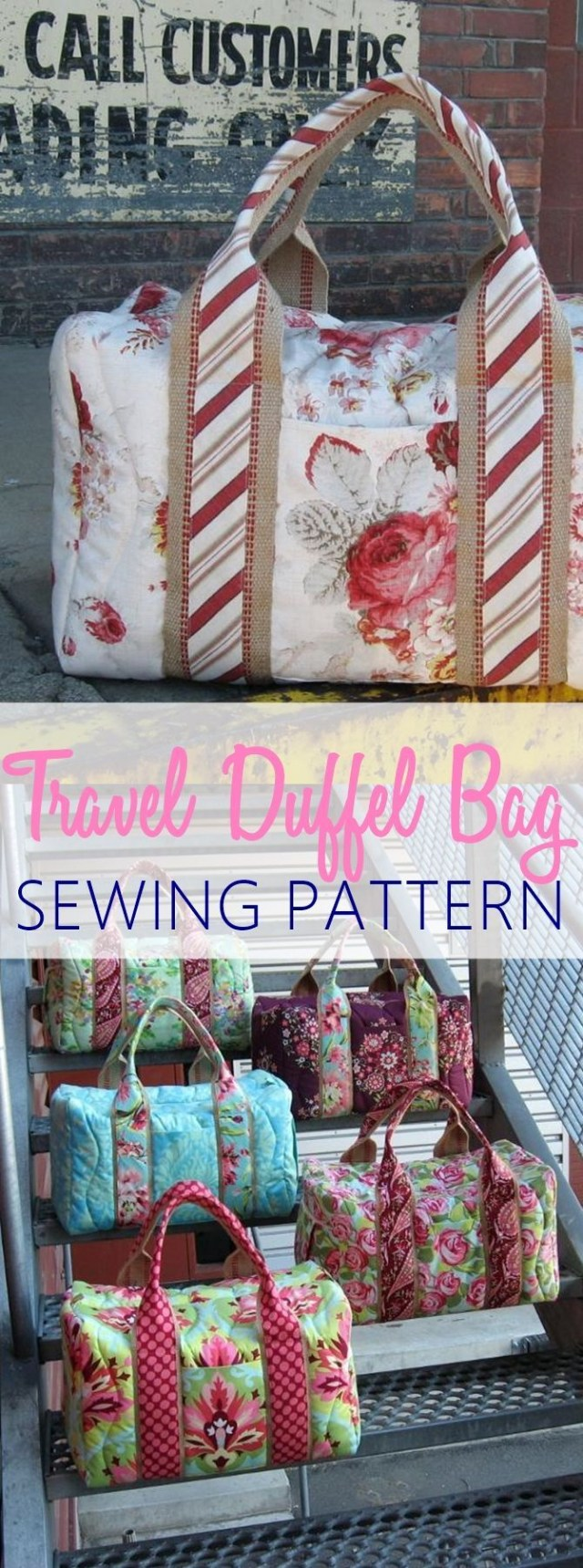 Duffle Bag Sewing Pattern Travel Duffel Bag Sewing Pattern Perfect For Weekends And Night