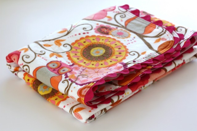 Easy Baby Blanket Sewing Patterns For Beginners Ric Rac Receiving Blanket Tutorial Sew Much Ado