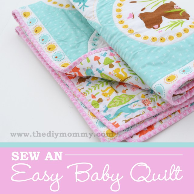 Easy Baby Blanket Sewing Patterns For Beginners Sew An Easy Beginners Ba Quilt The Diy Mommy