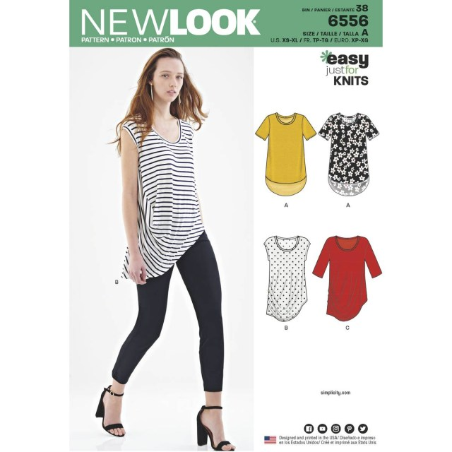 Easy Blouse Sewing Pattern New Look Womens Easy Knit Tops Sewing Pattern 6556 Hobcraft