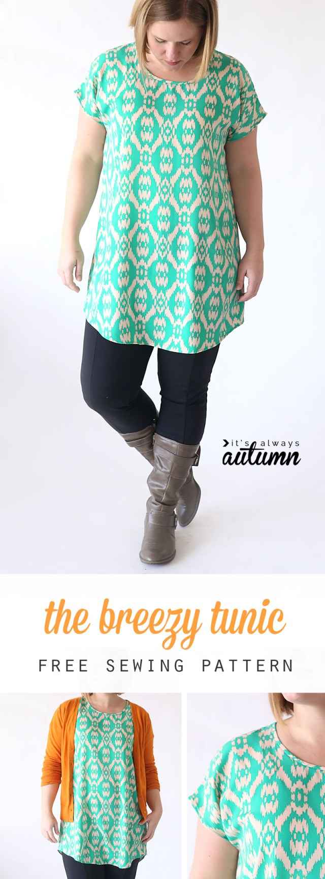 Easy Blouse Sewing Pattern The Breezy Tee Tunic Free Sewing Pattern Its Always Autumn