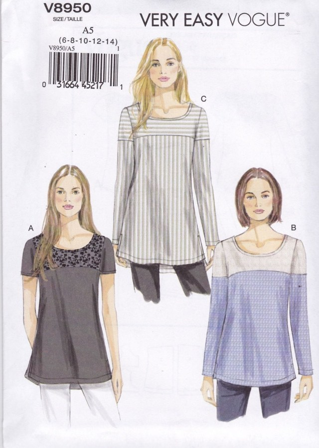 Easy Blouse Sewing Pattern Very Easy Vogue Sewing Pattern Misses Semi Fitted Pullover Tunic 6