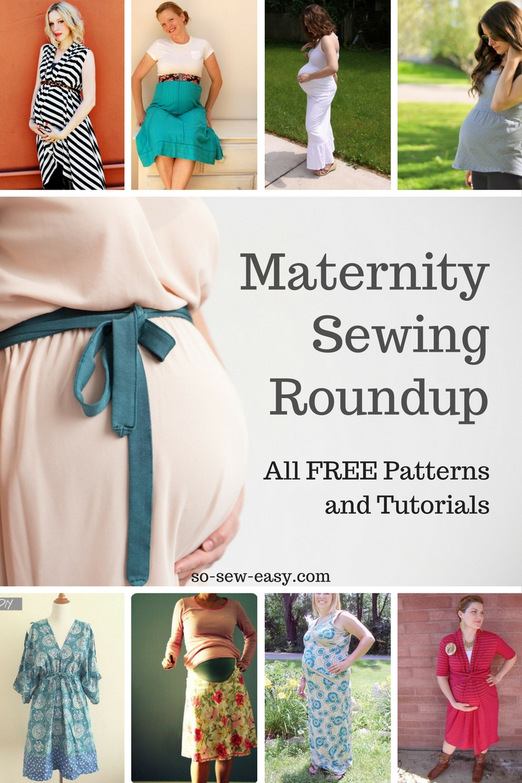 Easy Sew Patterns Maternity Sewing Patterns And Tutorials Roundup All Free So Sew Easy