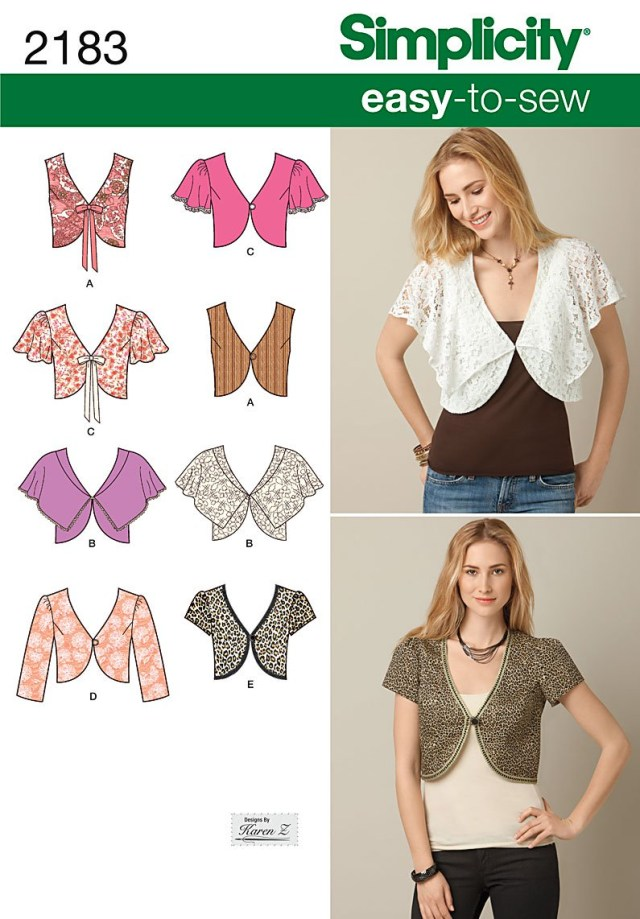 Easy Sew Patterns Simplicity 2183 Misses Easy To Sew Vest Or Jacket