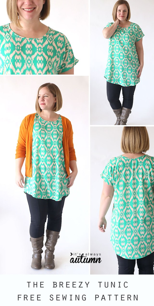 Easy Sew Patterns The Breezy Tee Tunic Free Sewing Pattern Its Always Autumn