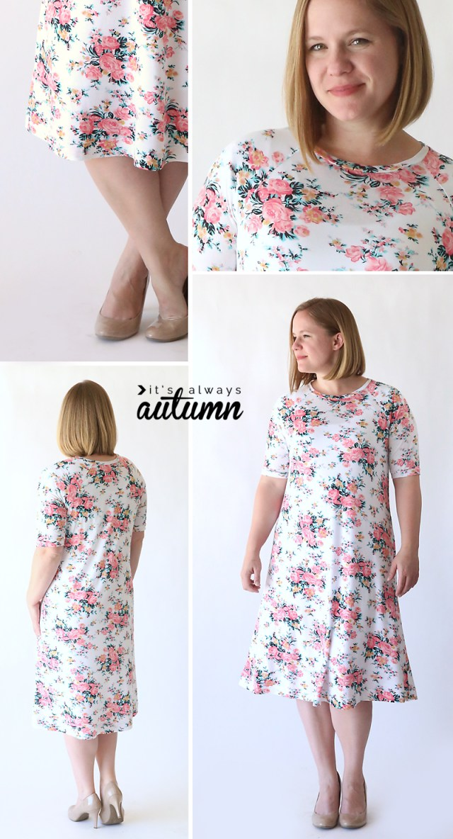 Easy Sew Patterns The Easy Tee Swing Dress Simple Sewing Tutorial Its Always Autumn