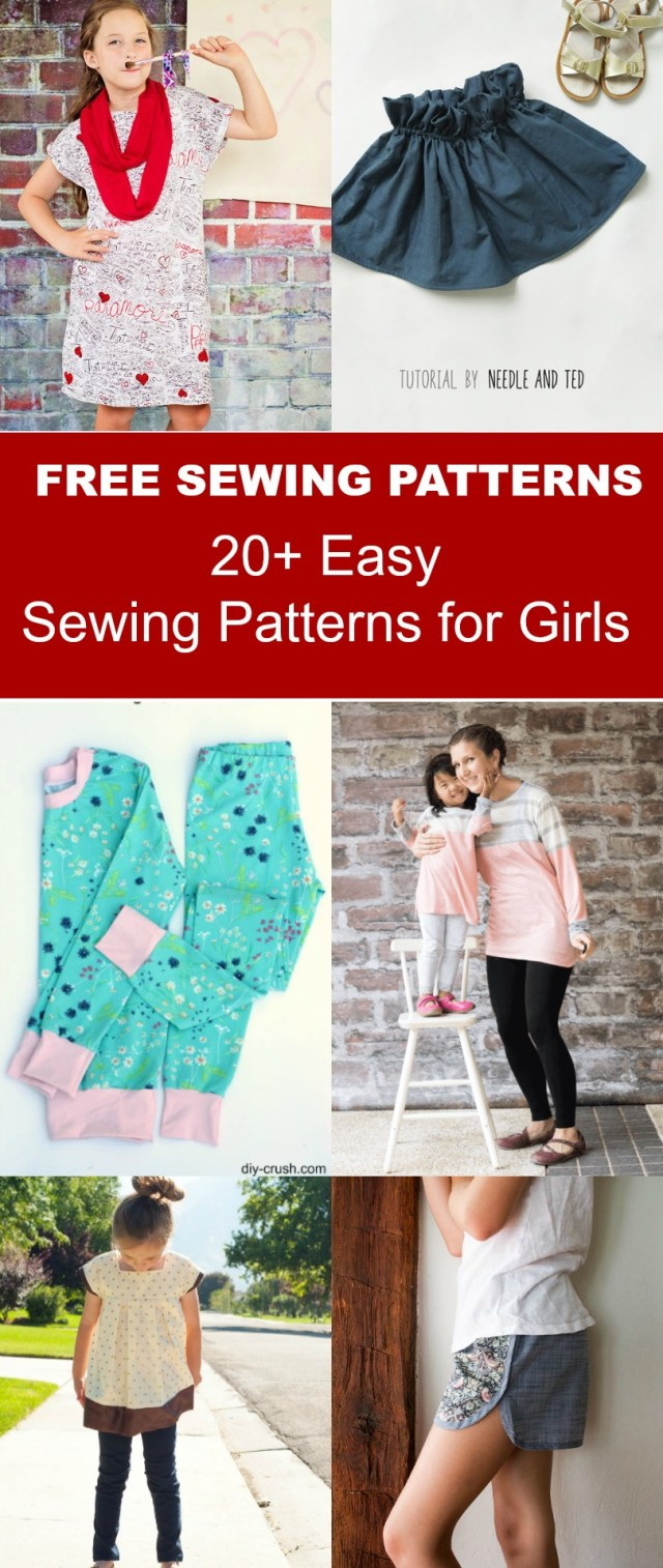 Easy Sewing Patterns 20 Easy Sewing Patterns For Girls On The Cutting Floor Printable