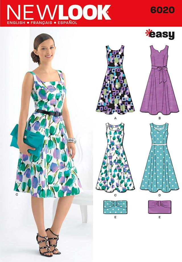 Easy Sewing Patterns 6020 Misses Dresses Purse New Look Easy Sewing Pattern Misses