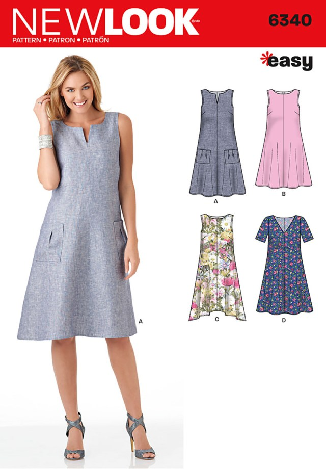 Easy Sewing Patterns For Beginners New Look 6340 Misses Easy Dresses