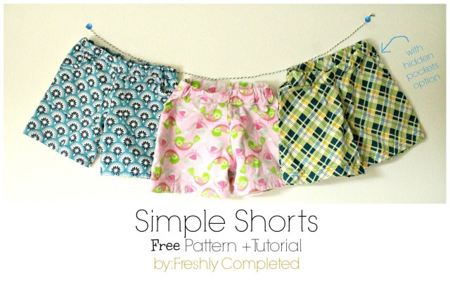 Easy Sewing Patterns Freshly Completed Simple Shorts Free Pattern Tutorial