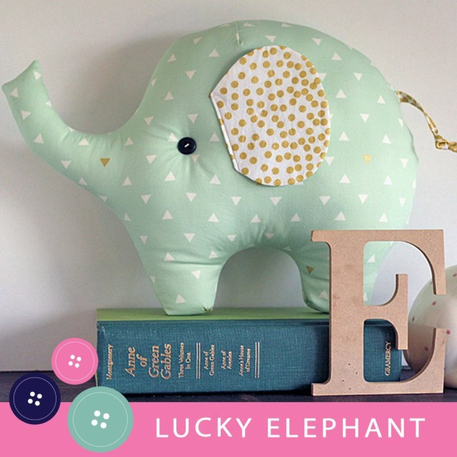 Elephant Sewing Pattern Lucky The Elephant Pdf Sewing Pattern Gingercake Patterns And Design