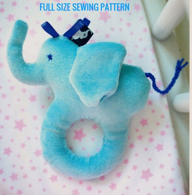 Elephant Sewing Pattern Pdf Digital Download Vintage Full Size Sewing Pattern To Make An