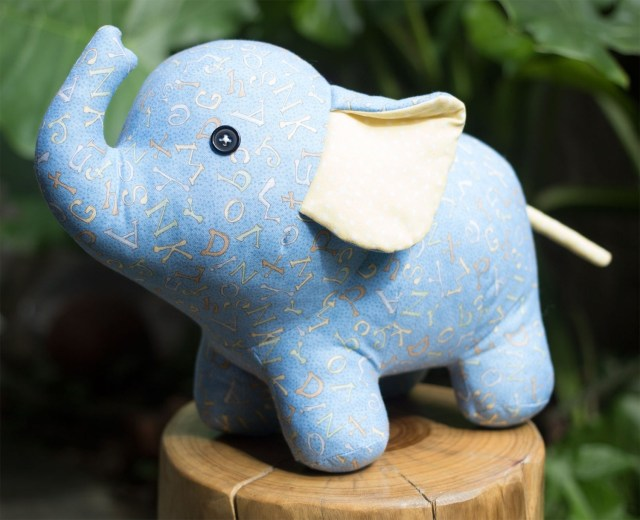 Elephant Sewing Pattern Stuffed Elephant Pdf Sewing Pattern Tutorial Stuffed Etsy