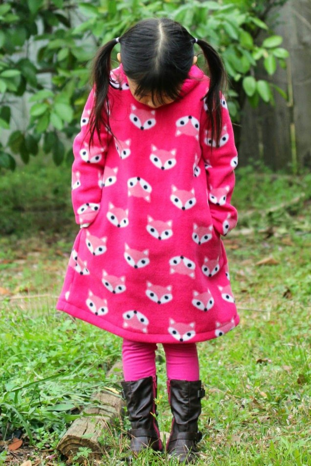 Fleece Sewing Projects Fox Fleece Dress For Little Momo Sewing Diy Kids And Toys