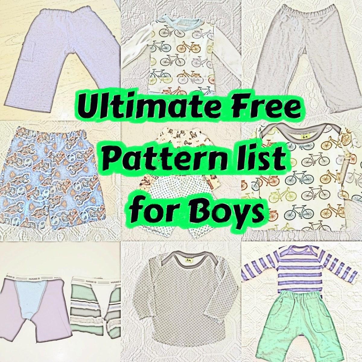 Free Baby Sewing Patterns Free Boy Patterns Sew Boy Sewing Sewing Patterns Sewing