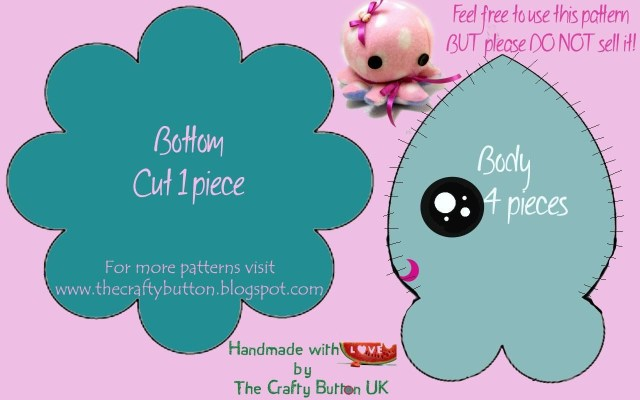 Free Patterns For Sewing Free Patterns For Sewing The Crafty Button Free Octopus Sewing