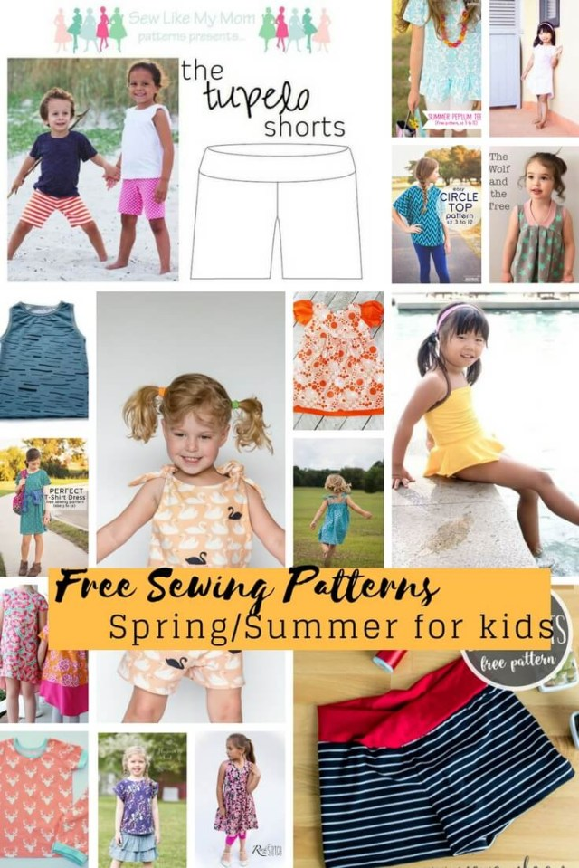 Free Patterns For Sewing Free Sewing Patterns For Kids Springsummer 2018 Life Sew Savory