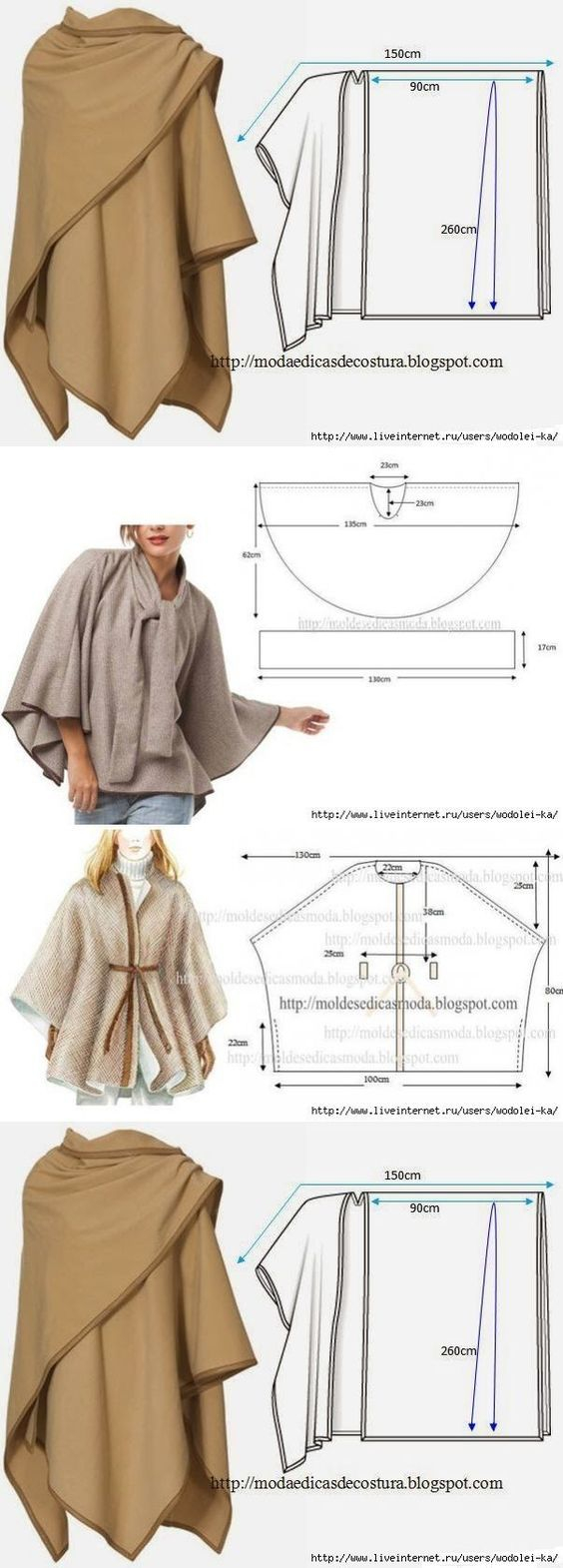 Free Patterns For Sewing Hooded Wrap Coat Sewing Ideas Sewing Sewing Patterns Knitting