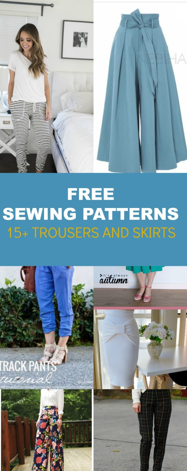 Free Sewing Pattern Free Pattern Alert 15 Pants And Skirts Sewing Tutorials On The