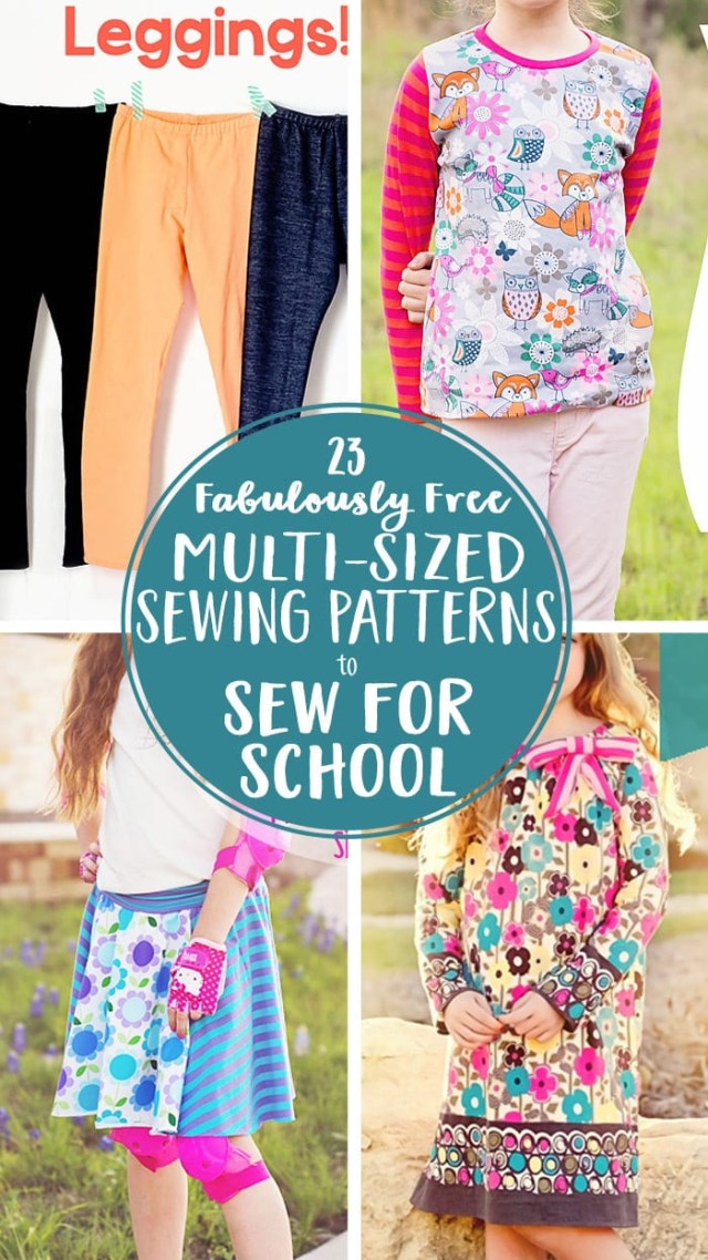 Free Sewing Patterns 23 Free Multi Sized Pdf Sewing Patterns For School
