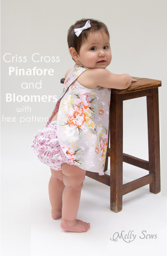 Free Sewing Patterns For Baby Free Ba Pinafore And Bloomers Pattern Melly Sews
