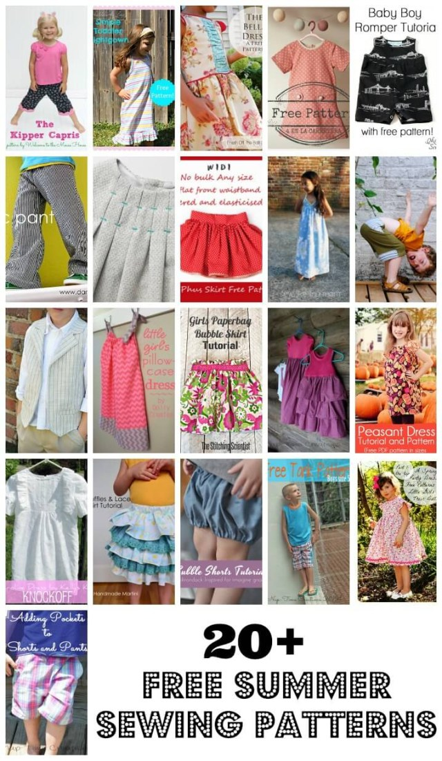 Free Sewing Patterns For Kids 20 Free Sewing Patterns For Kids Life Sew Savory
