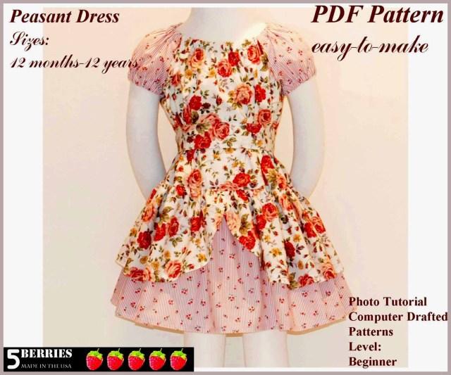 Free Sewing Patterns For Kids Free Printable Sewing Patterns Alexandra Girls Dress Sewing