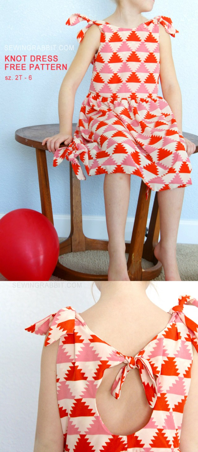 Free Sewing Patterns For Kids Knot Dress Free Pattern The Sewing Rabbit