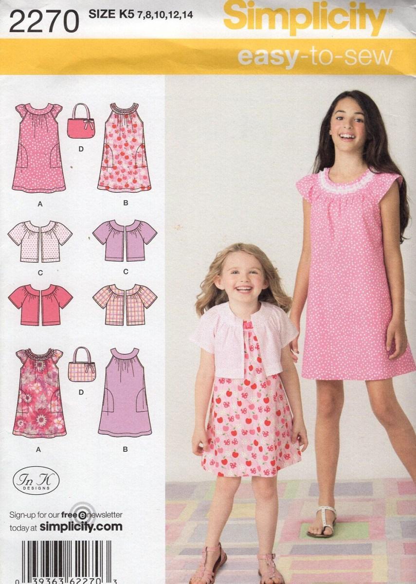 Girls Sewing Patterns Free Us Ship Sewing Pattern Simplicity 2270 Girls Summer Dress